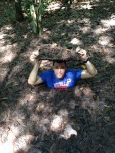EMBA Student in Cu Chi tunnels